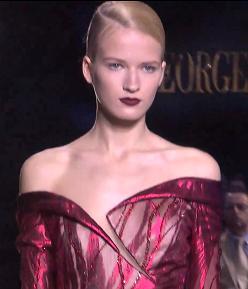 Красно-бордовые оттенки от Джоржа Чакры на фото