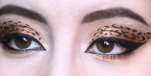 Макияж - глаз леопарда (фото).