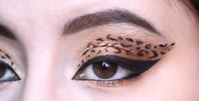 Макияж - глаз леопарда