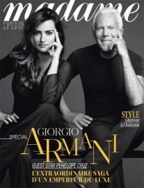 Пенелопа Крус и Джорджио Армани для «Madame Figaro»