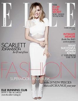 Скарлетт Йохансон украсит обложку февральского выпуска ELLE UK
