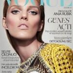 Аня Рубик на обложке Vogue Турция