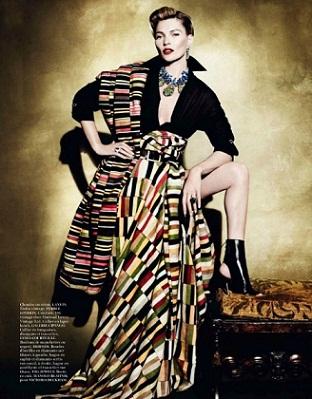 Vogue Paris и Кейт Мосс в стиле культуры Перу