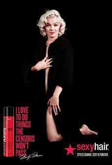 Мерилін Монро стала головним обличчям реклами Sexy Hair
