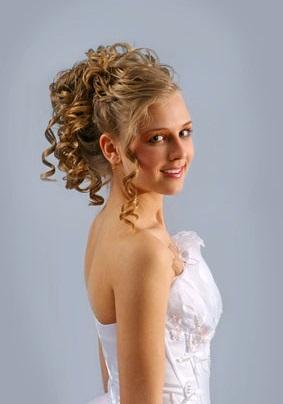 Весільні зачіски на світле волосся фото.