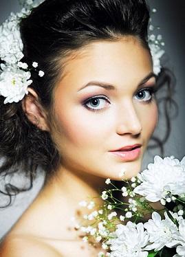 Весільний макіяж для блакитних очей, фото