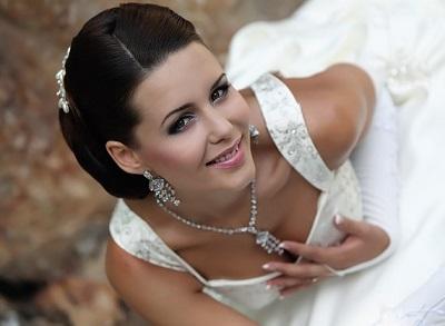 Весільний макіяж для темноволосих, фото.