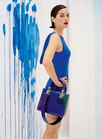 Маріон Котійяр в рекламі нової сумки Lady Dior