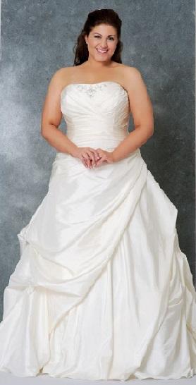 Стиль ампір для весільної сукні повним жінкам - фото