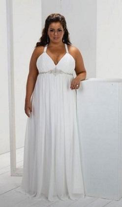 Сукня на фото для повних жінок у стилі ампір