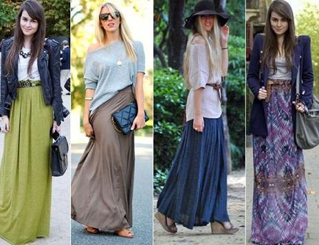 На фото юбки у стилі саронг