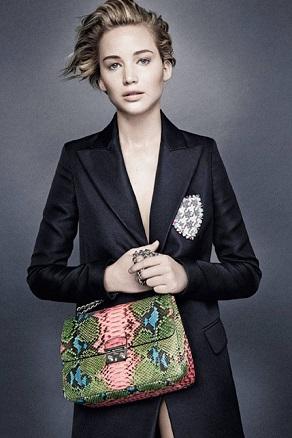 Дженніфер Лоуренс рекламує сумки і аксесуари Dior