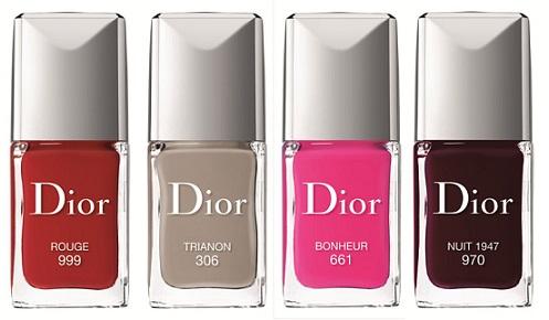 Dior - лак на нігті різних кольорів