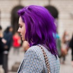 Фіолетове волосся знайшло місце у сучасному стилі моди