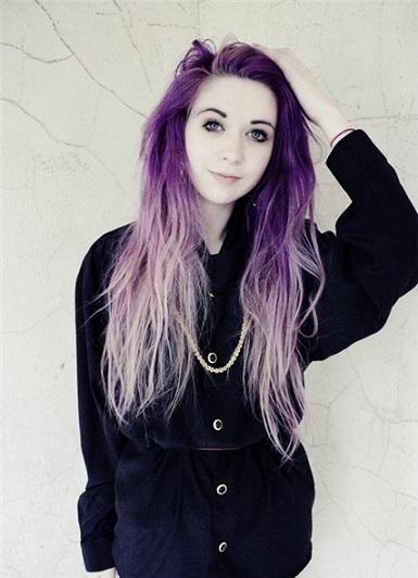 Фіолетове волосся і його фото
