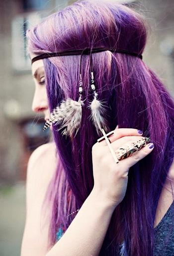 Фото фіолетового волосся.