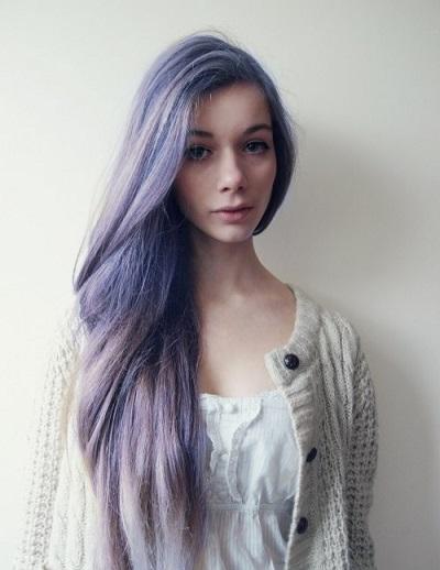 Як фарбують волосся у фіолетовий колір?