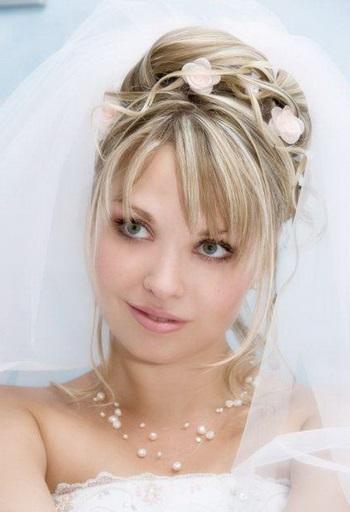 Весільні зачіски з фатою на фото, безліч
