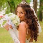 Фото весільних зачісок з фатою і косою