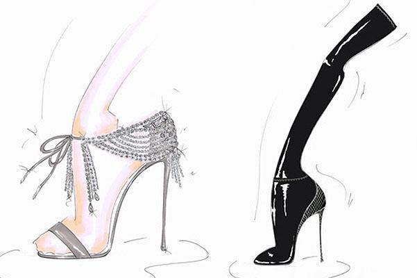 Олівія Палермо випустить колекцію взуття спільно з Aquazzura - екскіз