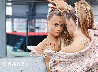 Кара Делевінь у рекламній компанії Chanel