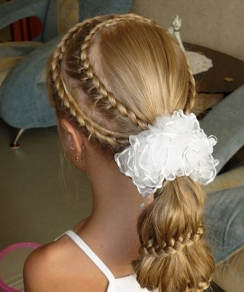 Зачіски для дівчат - підбірка фото, із заду..