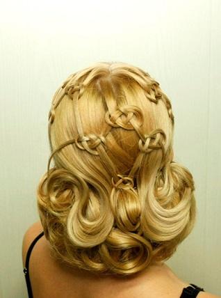 Зачіски на фото для дружок на весілля.