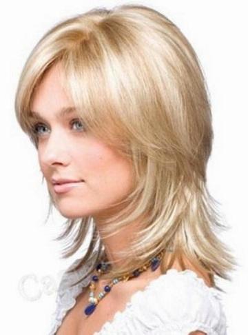 Самі стильні стрижки на волоссі середньої довжини - фото