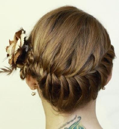 Колосок зачіска, приклади фото.