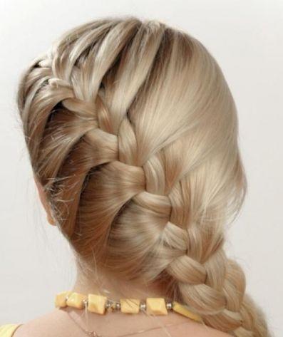 Зачіска - колосок, фото.