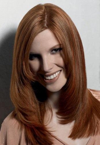Каштановий модний колір волосся 2015, фото