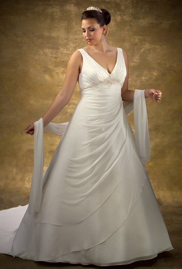 весільні сукні +для повних дівчат фото