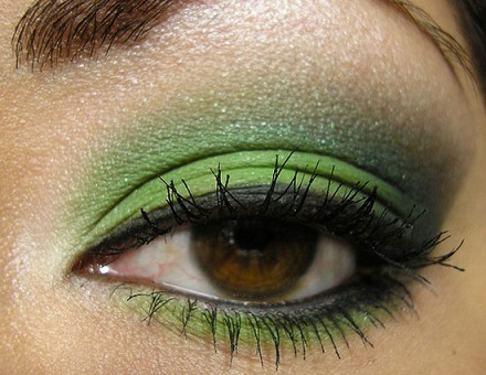 Зелений макіяж і його фото.