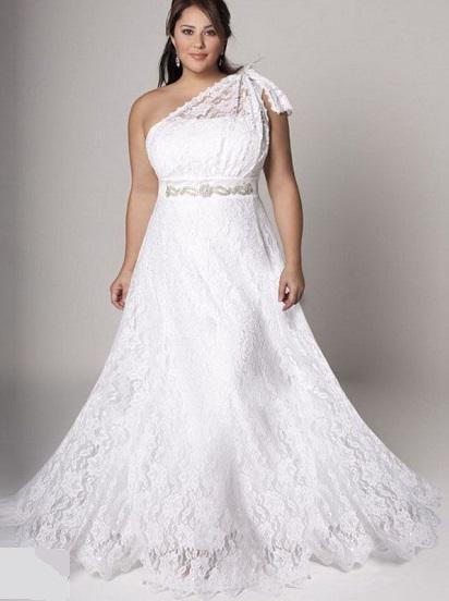 сукні для повної нареченої - фото