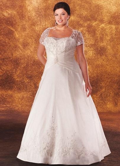 Як вибрати сукні на весілля повній нареченій, приклад фото