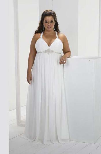 Весільна сукня на фото у грецькому стилі для повної статури