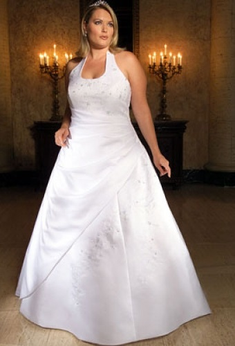 Фото весільних суконь у грецькому стилі для повних