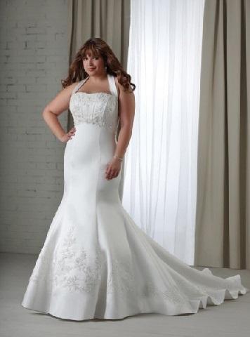 для пової фігури фото весільної сукні