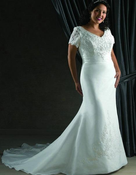 Фото весільної сукні русалка на повну фігуру