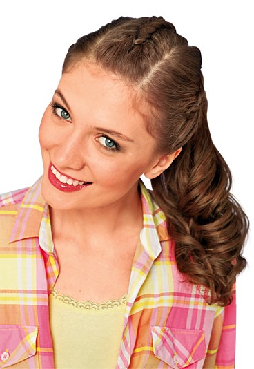 Фото - прості зачіски на середнє волосся.