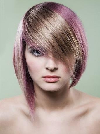 Зачіски на волосся середньої довжини в сучасному стилі.