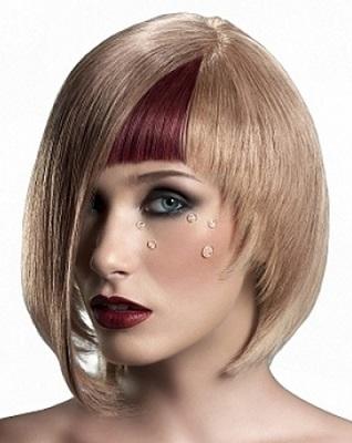 На волосся середньої довжини - сучасні зачіски